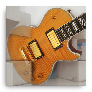 Gibson Les Paul Abstract Canvas Wall Art