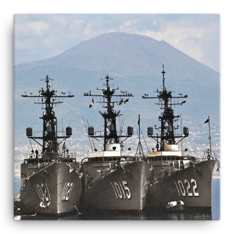 USS Hammerberg DE-1015 Canvas Wall Art