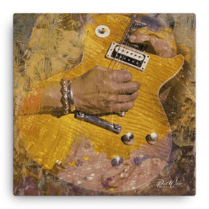 Electric Guitar Player Canvas Wall Art