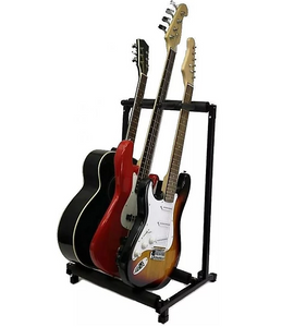 Guitar Stand- Holds 3 Guitars- Multiple Display Rack-Holds Electric, Bass & Acoustic
