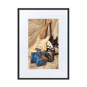 Guitar Still Life Framed Poster With Mat
