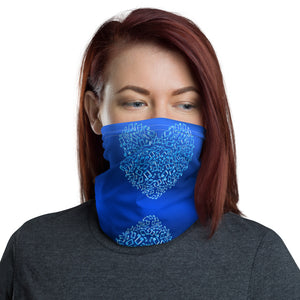 Neck Gaiter With Heart Shaped Musical Notes