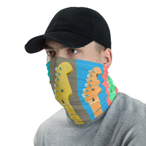 Neck Gaiter with Colorful Strat Style Guitar Necks