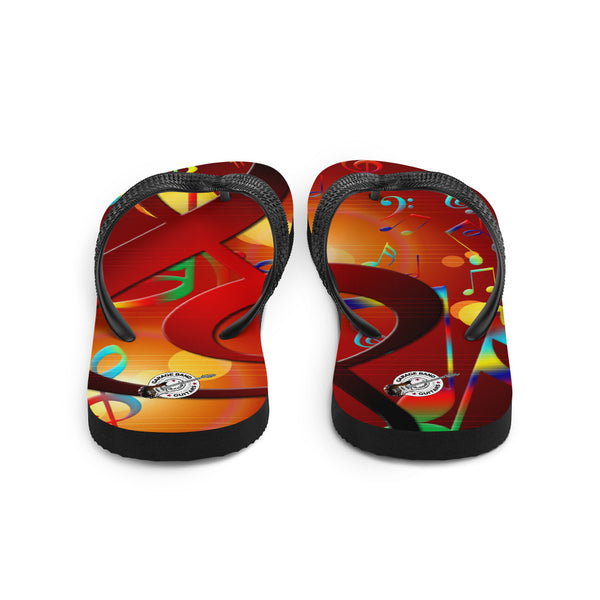 Colorful Musical Notes Flip-Flops