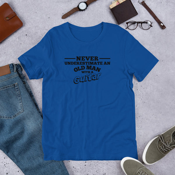 Never Underestimate An Old Man Short-Sleeve Unisex T-Shirt