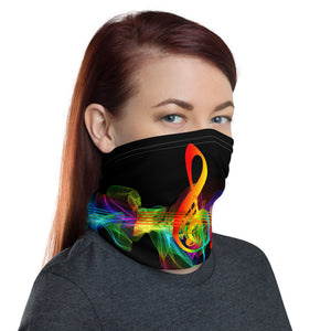 Neck Gaiter with Colorful Musical Notes