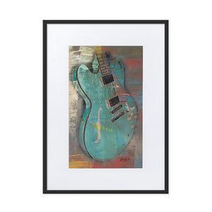 Abstract Guitar Framed Poster With Mat