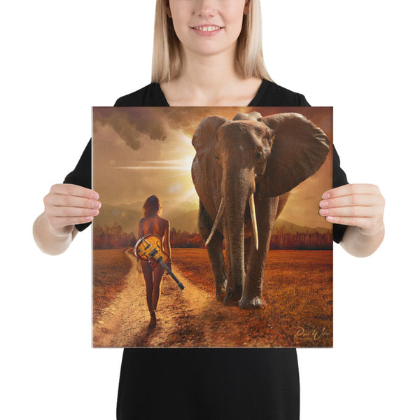 Walk On The Wild Side Canvas Wall Art