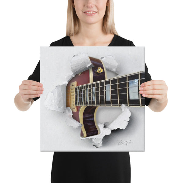 Gibson Les Paul Paper Burst Canvas Wall Art
