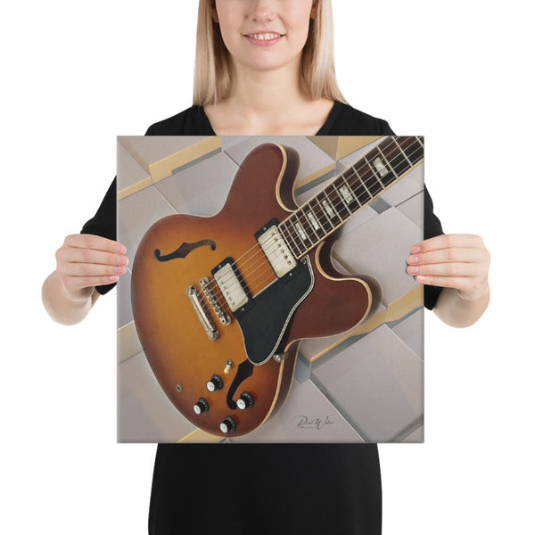 Gibson ES Electric Guitar Canvas Wall Art
