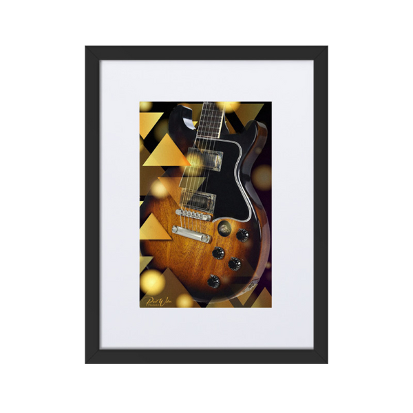 Abstract Gibson Guitar Framed Wall Art