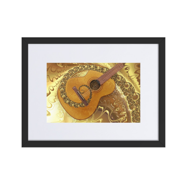 """My Father's Guitar"" Abstract Acoustic Framed Guitar Wall Art"
