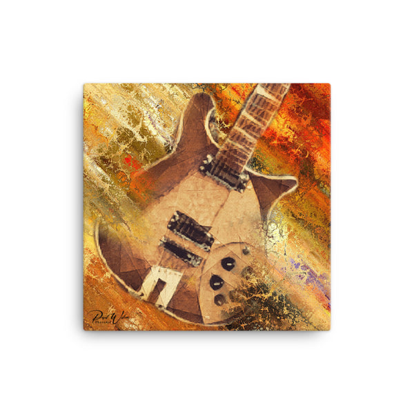 Radical Rickenbacker Guitar Canvas Wall Art