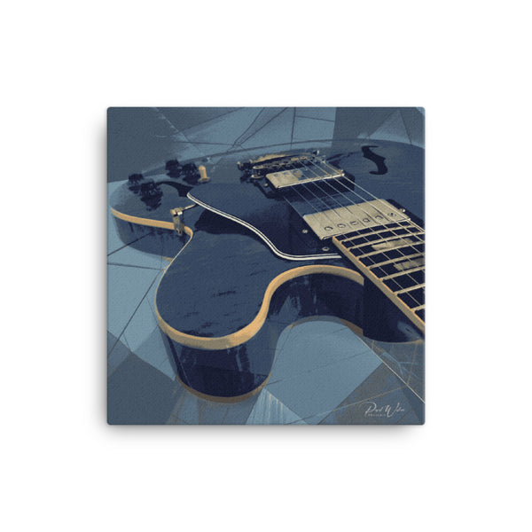 Abstract Blue Gibson ES Canvas Wall Art