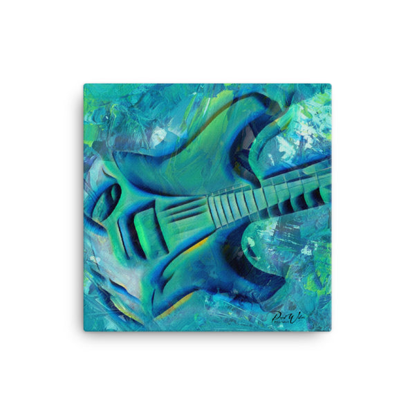 Funky Abstract Electric Guitar Canvas Wall Art