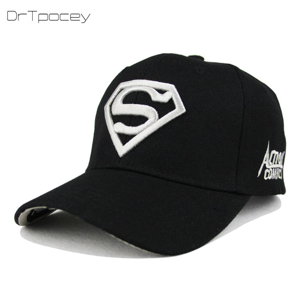 2018 New Letter Superman Cap Casual Outdoor Baseball Caps For Men Hats Women  Snapback Caps For 7f1d638510e