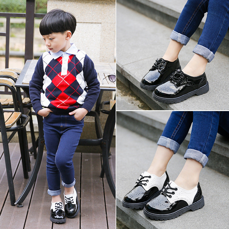 015fdad884 2018 New Spring Summer Autumn Kids Shoes For Boys Girls British Style  Children's Casual Sneakers PU Leather Fashion Shoes Hot