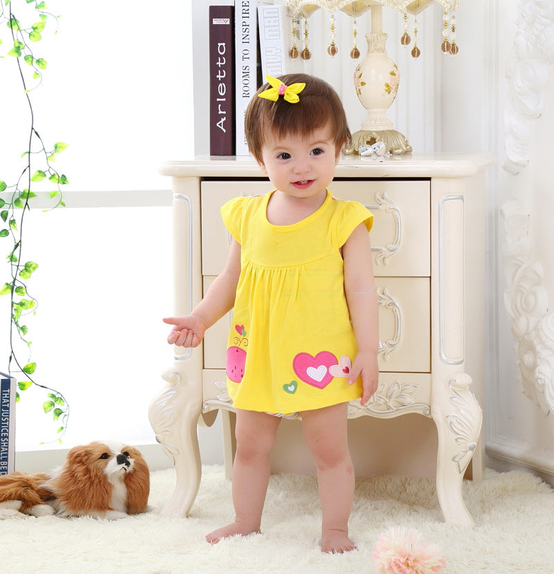 517213bca Baby Girl Clothes 2017 Summer Baby Rompers Roupas Bebes Flower Baby ...