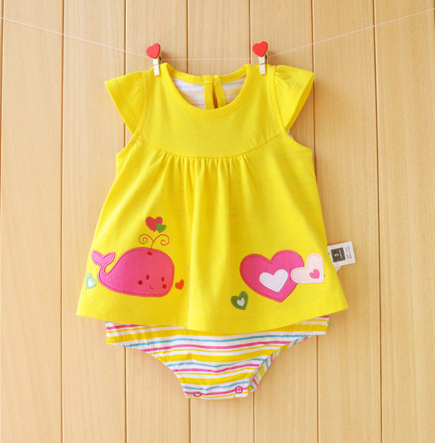 23850405fc099 Baby Girl Clothes 2017 Summer Baby Rompers Roupas Bebes Flower Baby ...