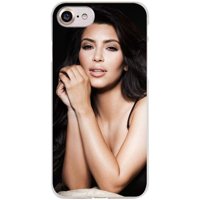newest dd035 c0005 BINYEAE Kim Kardashian Kimoji Clear Cell Phone Case Cover for Apple iPhone  4 4s 5 5s SE 5c 6 6s 7 Plus