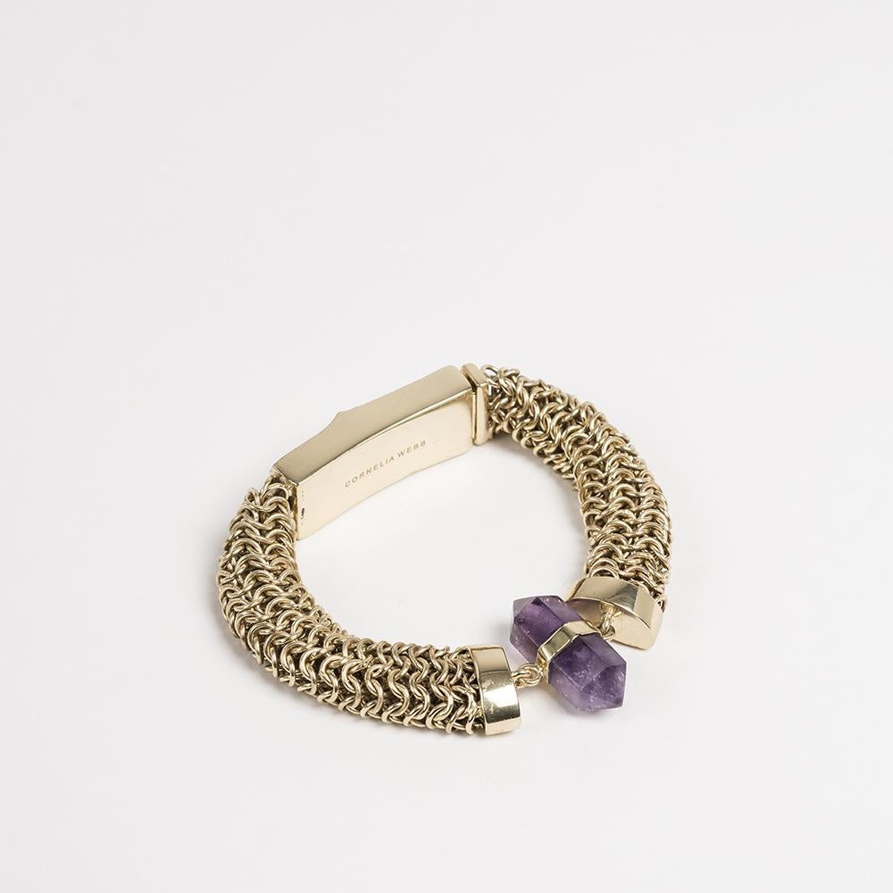 Crystalised Knit Bracelet Cornelia Webb Bracelet Bracelet,Brass,Crystalised,PF20,Stone