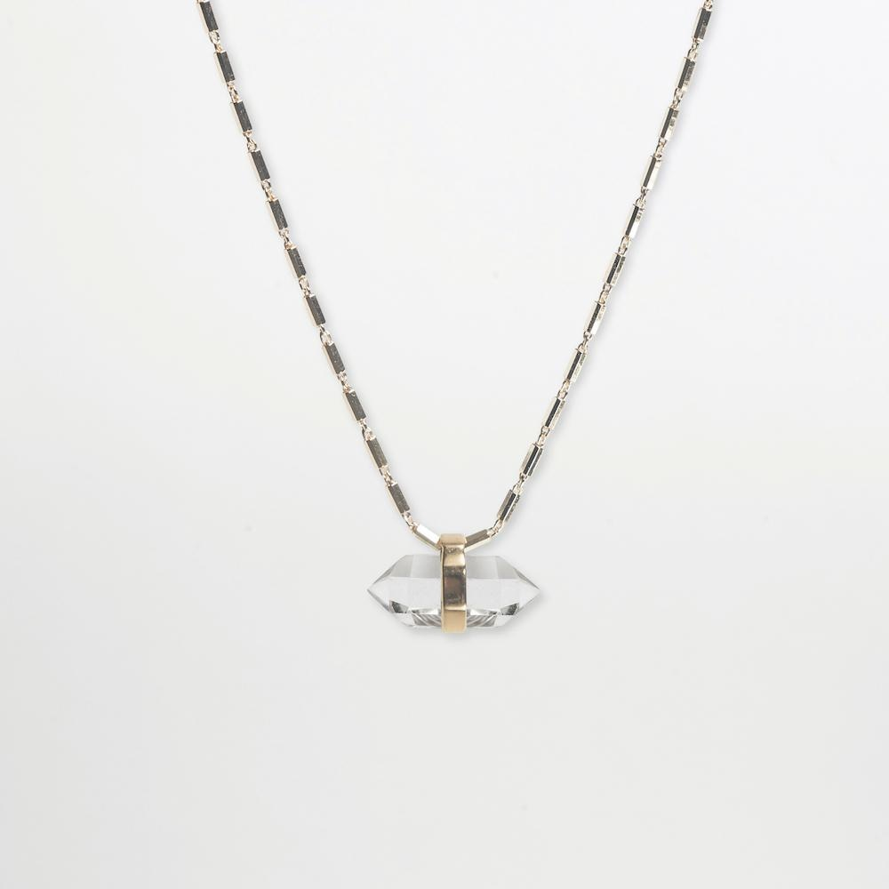 Crystalised Necklace XXS Cornelia Webb Necklace Crystalised, Gold Plated Sterling, Necklace, SS21, Stone