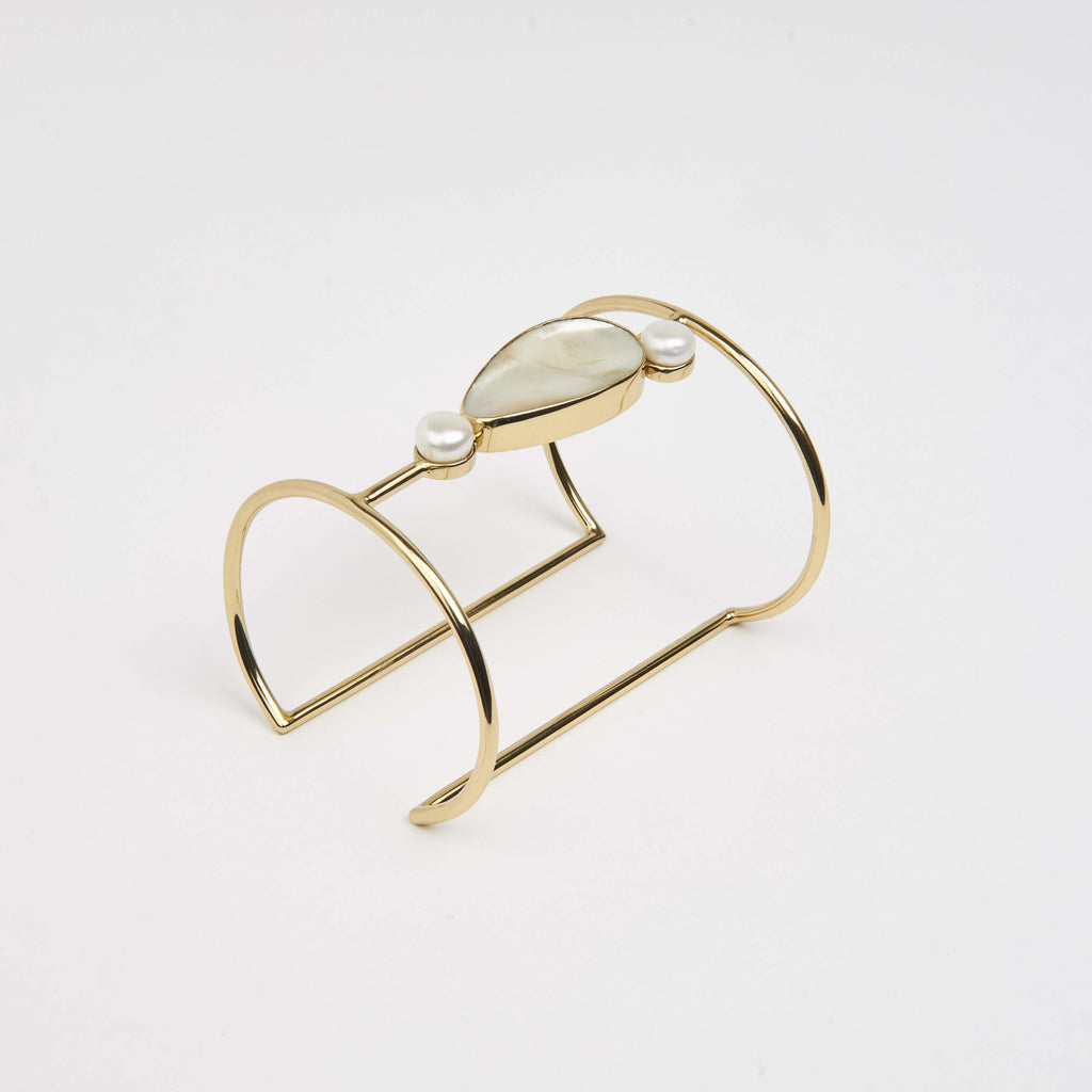 Bridal Double Cuff Cornelia Webb Avant Garde avant garde bracelet Bridal Exclusive gold plated brass