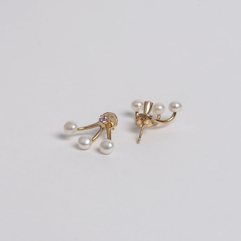Pearled Spider Earring with Pink Stud - Online Exclusive! Cornelia Webb Earring bridal, Classic, Core, earring, Earrings