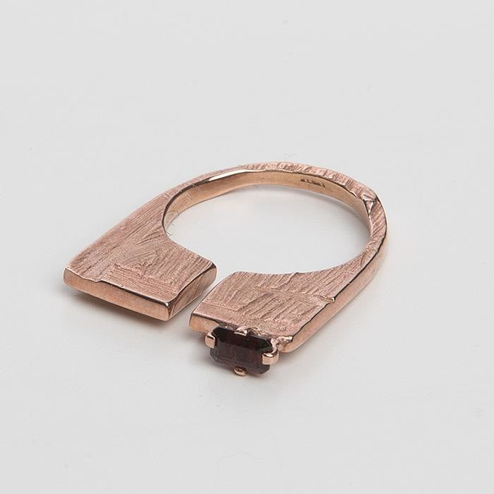 Slized Square Ring Large Cornelia Webb Rings no leather Rings sample sale stone