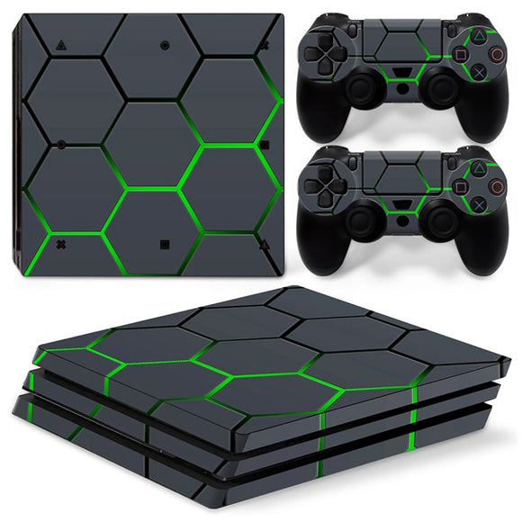 Water Proof Hexagon 3D Custom PS4 Design