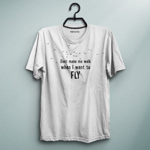 I Want To Fly White Tee