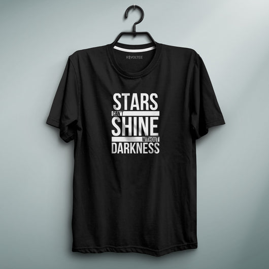 Stars Can't Shine Black Tee
