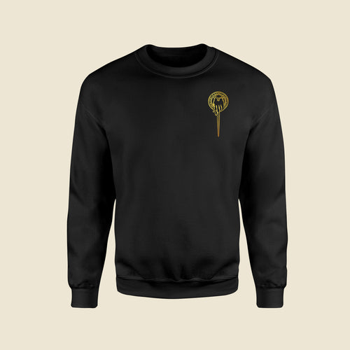 Hand Of The King Black Sweatshirt (Golden Print)