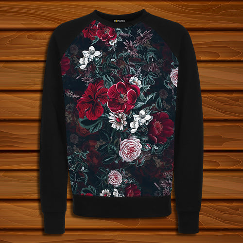 Flower Pattern 01 Digital Printed Sweatshirt