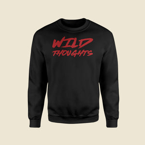 Wild Thoughts Black Sweatshirt