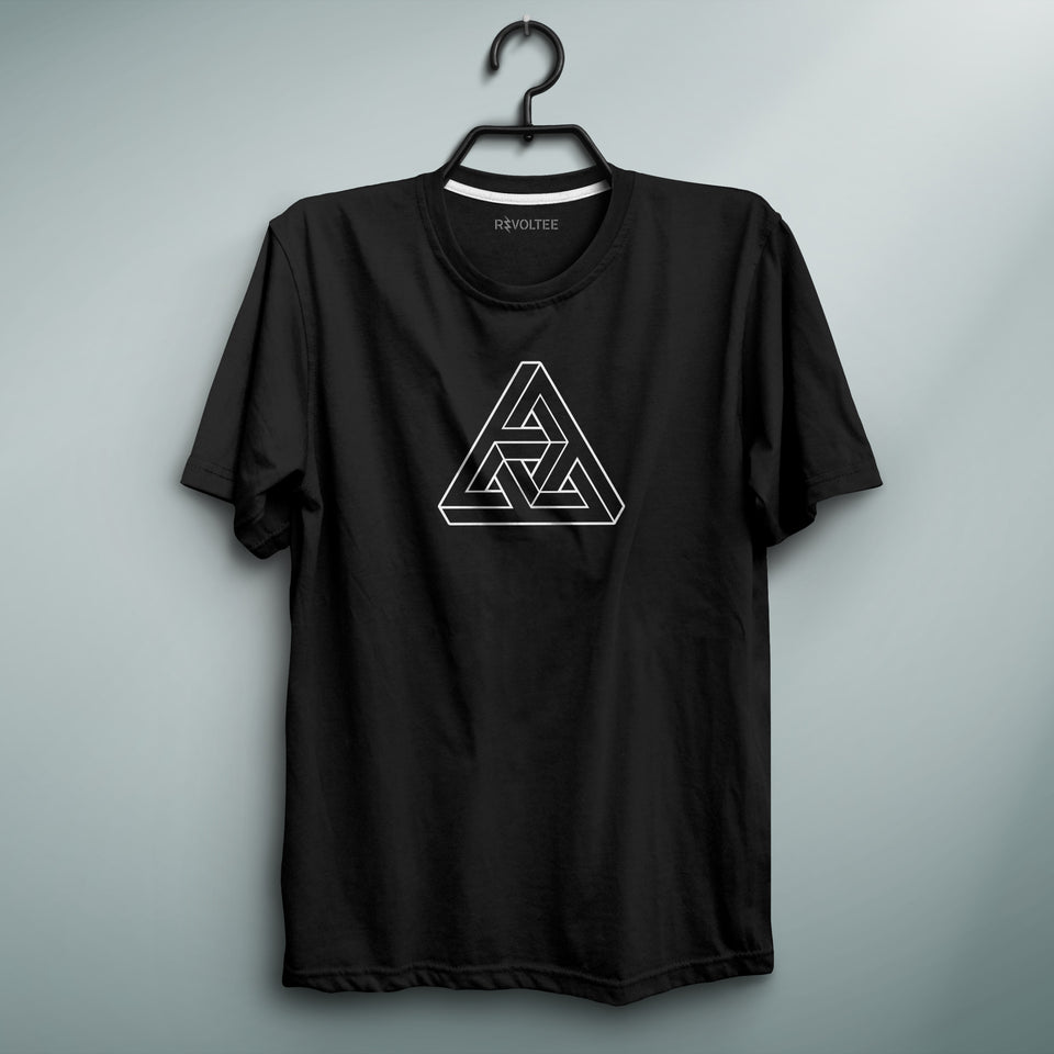 Impossible Triangle Black Tee