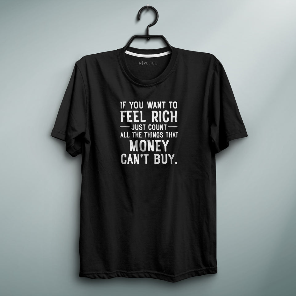 Feel Rich Black Tee