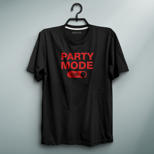Party Mode ON Black Tee