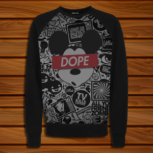 Dope Mickey 01 Digital Printed Sweatshirt