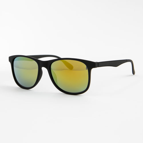 Yellow Wayfarers With Protective Case