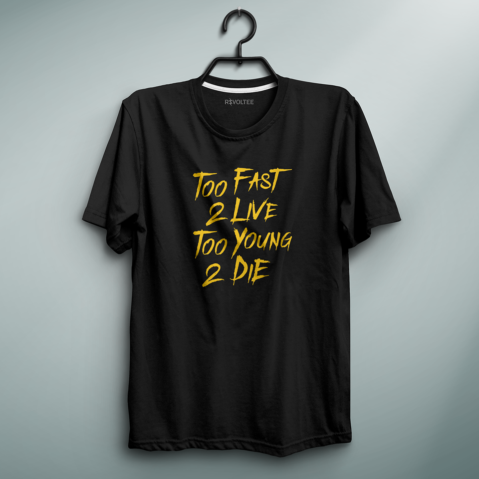 Too Fast Too Young Black Tee