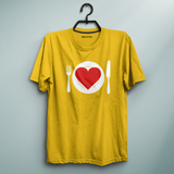 Heart For Dinner Yellow Tee