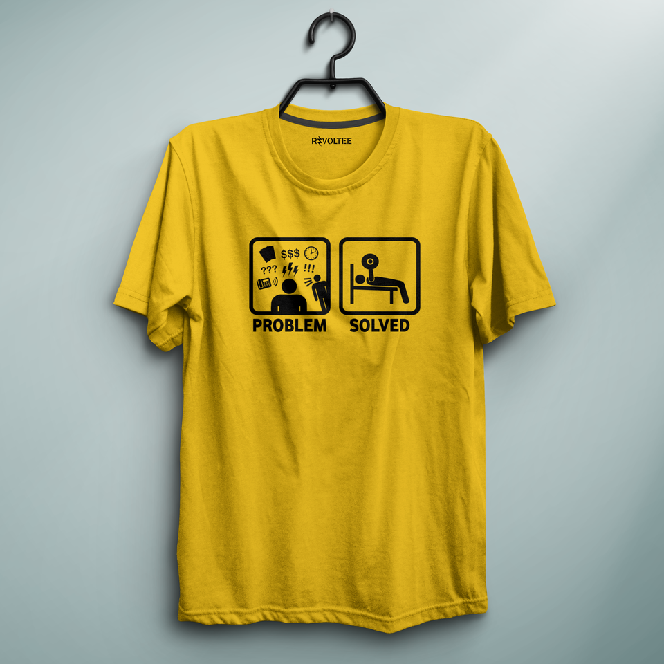 Lifting is The Solution Yellow Tee