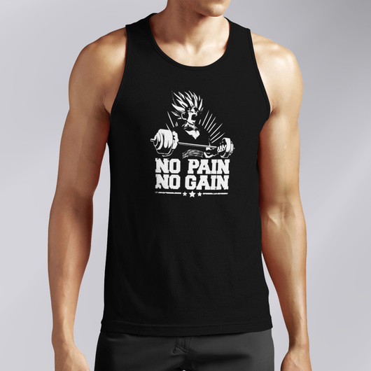 No Pain No Gain Black Tank Top