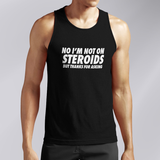 No Steroids Black Tank Top