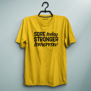 Stronger Tomorrow Yellow Tee