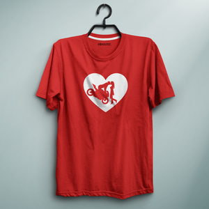 Romantic Front Wheelie Red Tee