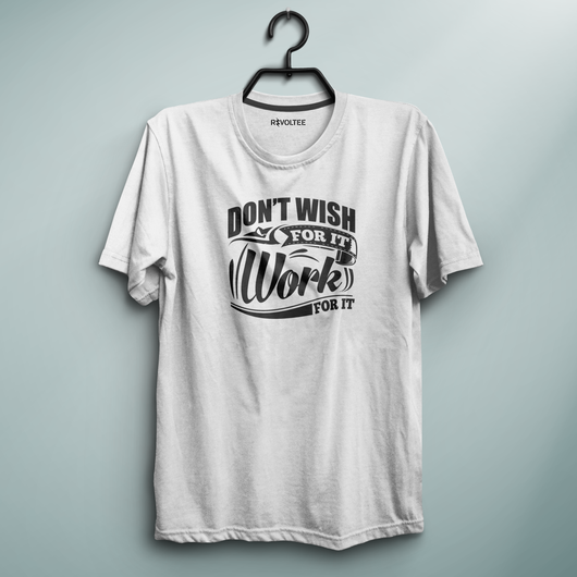 Work For It White Tee