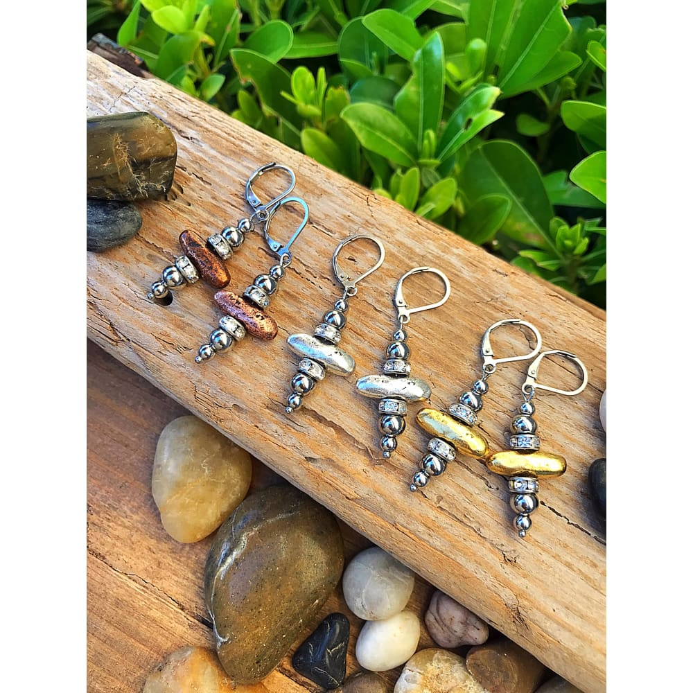 RUSTIC CAIRN EARRINGS