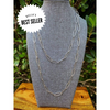 SILVER HAMMERED CHAIN